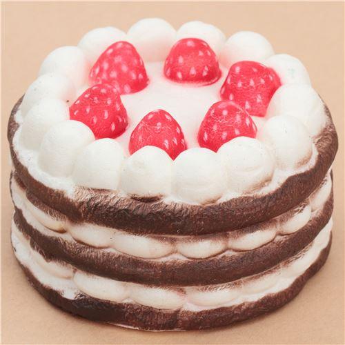 chocolate cream strawberry cake squishy - Food Squishy - Squishies - Kawaii Shop modeS4u