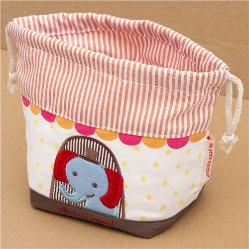 Circus Elephant Fabric Thermo Lunch Bag For Bento Bo 2