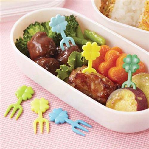 cloverleaf food picks forks for bento box lunch box bento accessories bento boxes kawaii. Black Bedroom Furniture Sets. Home Design Ideas