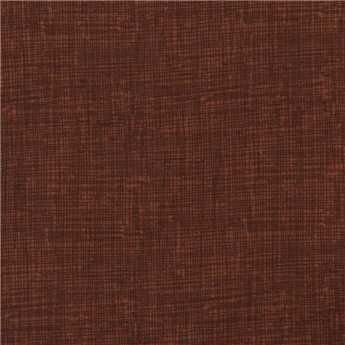 Coffee Brown Grid Pattern Sketch Fabric Timeless Treasures