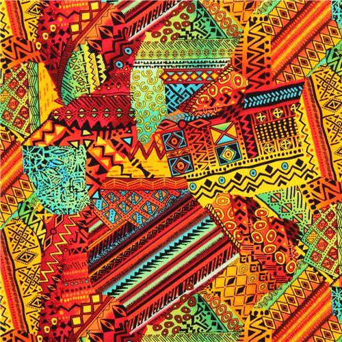 bunter afrika muster flicken stoff timeless treasures punkte streifen karo stoffe kawaii. Black Bedroom Furniture Sets. Home Design Ideas