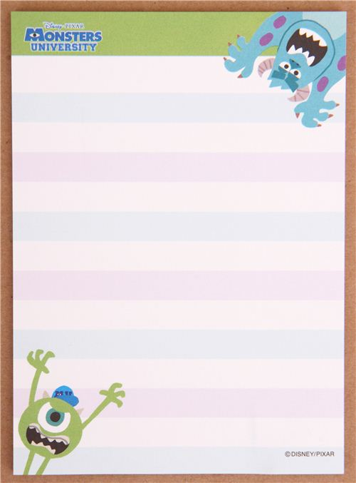 Papel carta mini colores Disney Monsters University de Japón ...