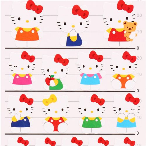 colorful hello kitty flower sanrio stickers from japan 1