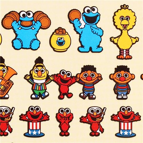 colorful sesame street characters stickers from japan cute
