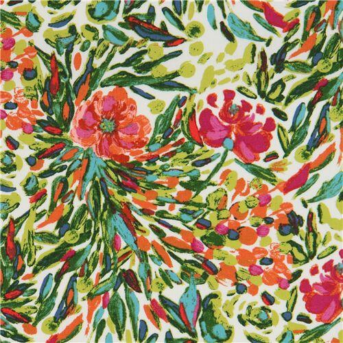 Colorful Flower Garden Fabric By Art Gallery Fabrics Modes4u