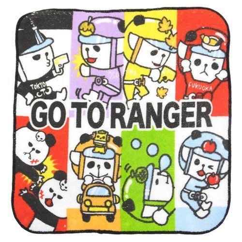 colorful panda ranger towel from japan bento accessories bento