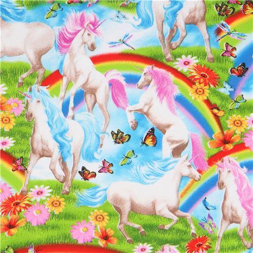 Tessuto Colorato Unicorni Maglina Timeless Treasures Modes4u