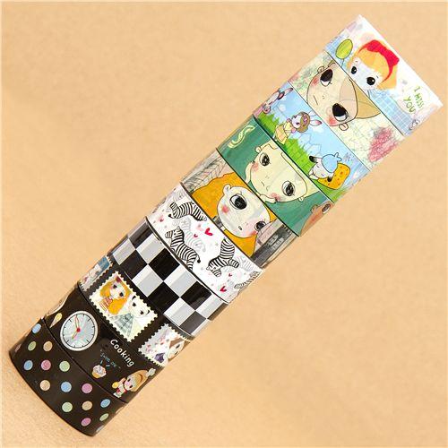 10 pezzi nastri adesivi decorativi colorati set numero 51 set di nastri decorativi nastri - Nastri decorativi natalizi ...