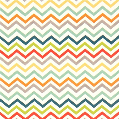 Colourful Chevron Organic Fabric By Birch From The Usa