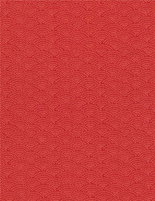 Coral Pattern Fabric coral orange scallop pattern fabric timeless treasures , dots