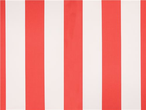 Coral Red Stripe Cotton Sateen Fabric Michael Miller
