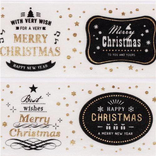 cremefarbenes Weihnachts mt Washi Klebeband mit Merry Christmas ...