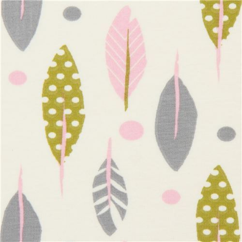 b5e08d1f0f8 cream feather knit fabric by Stof France - modeS4u