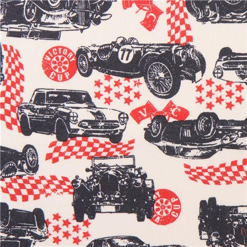 creme Fahrzeug Auto Retro Stoff für Jungs von Kokka aus Japan ...
