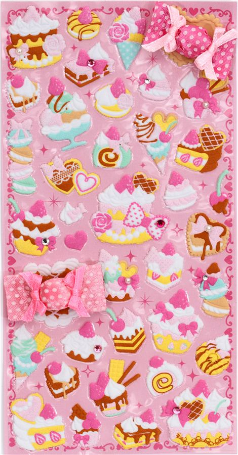 Cute 3d Stickers Sweets Cake Ice Cream Candy Sticker