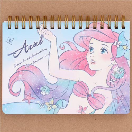Cute Ariel Little Mermaid Ring Binder Notebook