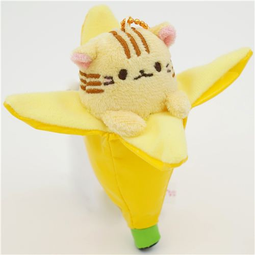 cute Bananya banana cat yellow tiger plush charm from ...