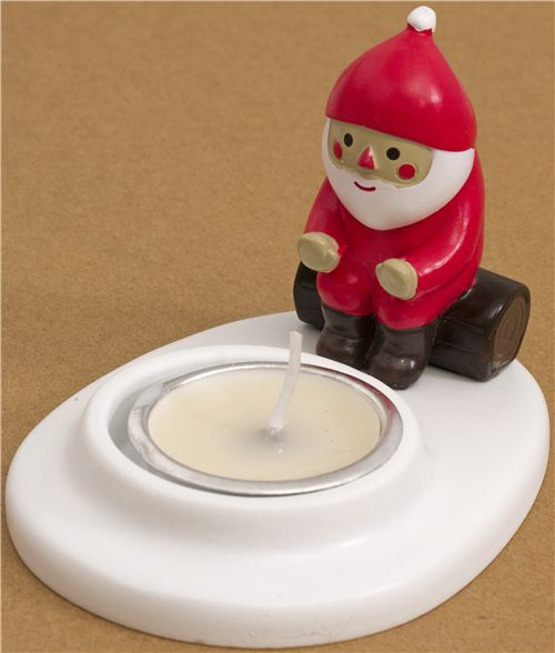 cute Christmas candle holder with Santa Claus from Japan - Other ...