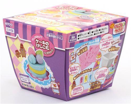 cute diy eraser making kit to make yourself cakes erasers diy sets arts and crafts kawaii. Black Bedroom Furniture Sets. Home Design Ideas