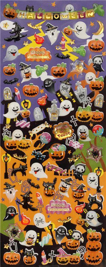 Cute Halloween Sticker Kawaii From Japan Sticker Sheets