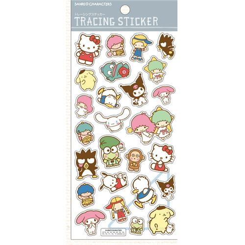 cute hello kitty my melody sanrio character stickers from japan