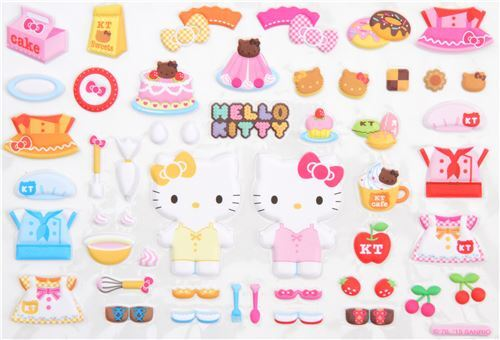 Cute Hello Kitty Bakery Puffy 3D Sponge Stickers From Japan 2