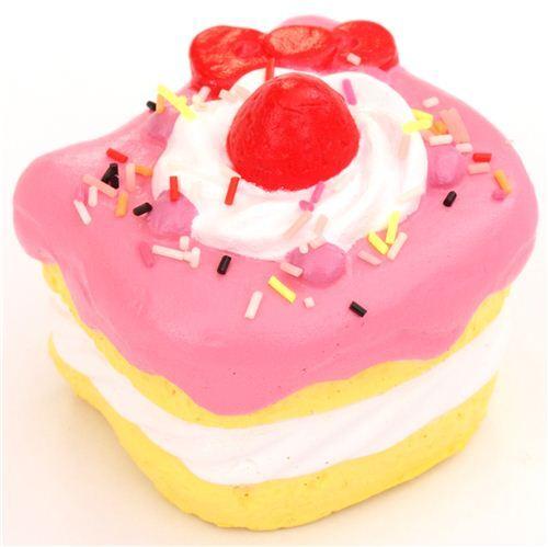 Susser Rosa Hello Kitty Kuchen Torte Squishy Anhanger Handyanhanger