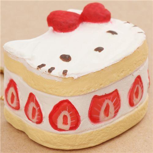 Susser Hello Kitty Gelber Kuchen Erdbeere Schleife Squishy Anhanger