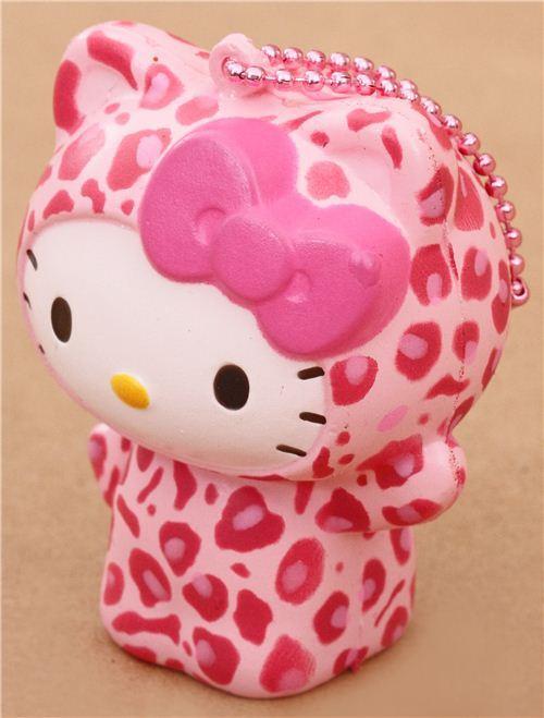 Diy Squishy Hello Kitty : cute Hello Kitty pink leopard squishy charm kawaii - Hello Kitty Squishy - Squishies - Kawaii ...