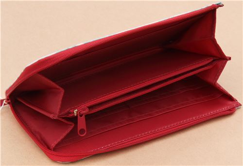 Cute Little Red Riding Hood Flower Card Holder Case Wallet From