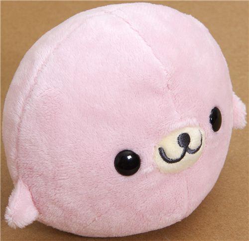 Cute Mamegoma Pink Seal Plush Toy By San X Stuffed