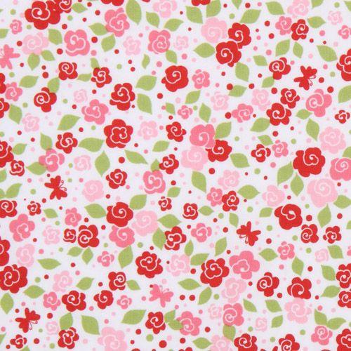 s sser michael miller rosen stoff rot rosa tea blooms blumenstoffe stoffe kawaii shop modes4u. Black Bedroom Furniture Sets. Home Design Ideas