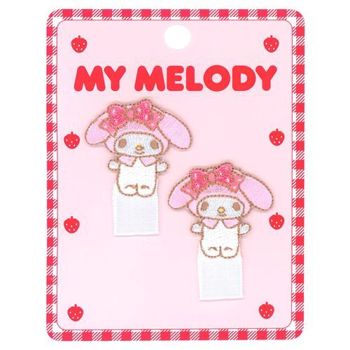 Squishy Tags To Do : cute My Melody pink bow dots decoration iron-on transfer tag 2 pieces - Notions - Fabric ...