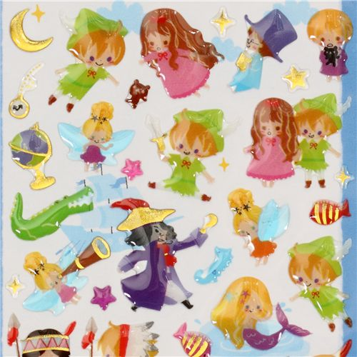 cute Peter Pan sticker Fairy Tale World - Sticker Sheets - Sticker ...