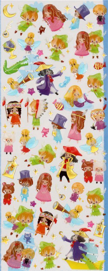 cute Peter Pan sticker Fairy Tale World - Sticker Sheets - Stickers ...