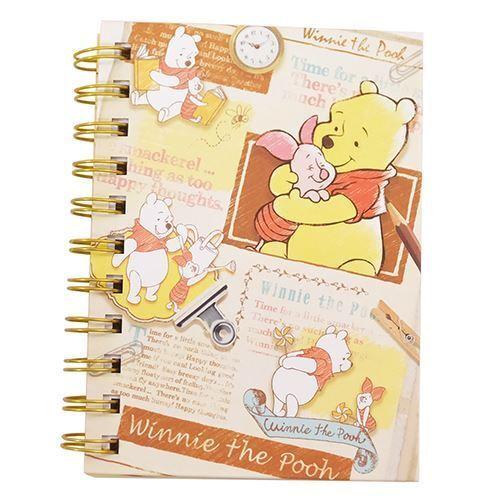 Adorable Cahier à Spirale Avec Winnie L Ourson Et Porcinet Importé Du Japon