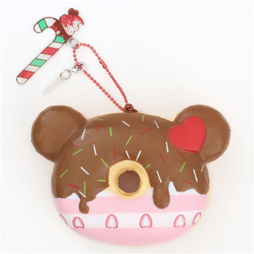 cute bear shape brown icing Christmas donut scented squishy by Puni Maru - Puni Maru Squishy ...