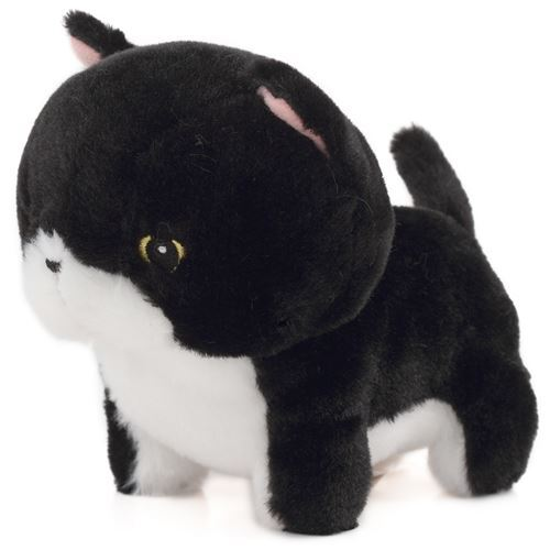 Cute Black White Cute Cat Plush Toy Yappari Munchkin From Japan