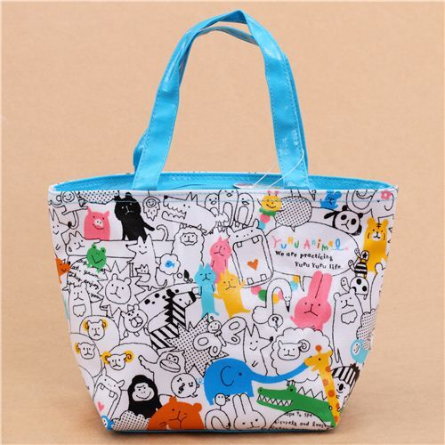 cute blue and white panda bear party animals lunch bag from Japan ... cb58a55549951