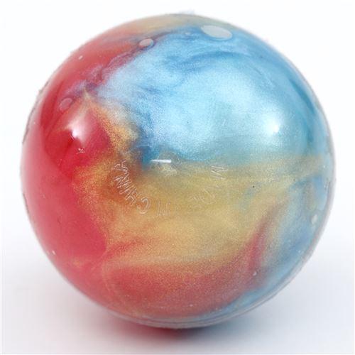 cute blue-red galaxy metallic slime with case kawaii mud ...