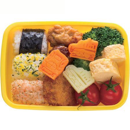 adorables tampons pour aliments avec un train bleu import s du japon accessoires pour bentos. Black Bedroom Furniture Sets. Home Design Ideas