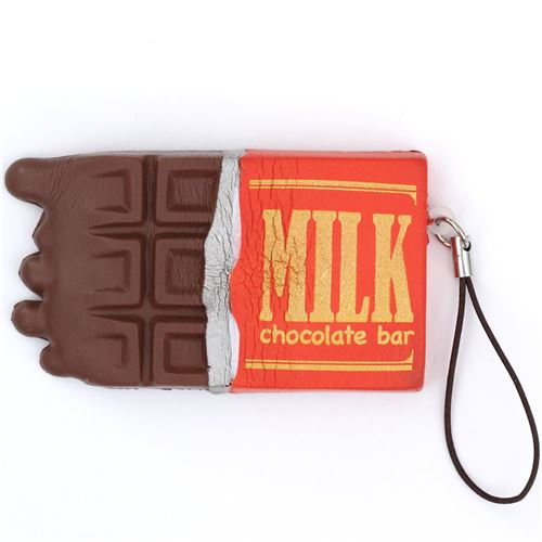 cute brown chocolate bar with wrapper design cracking squishy 1