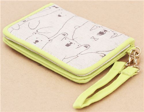 cute brown yellow bear card holder case wallet from Japan 207749 4