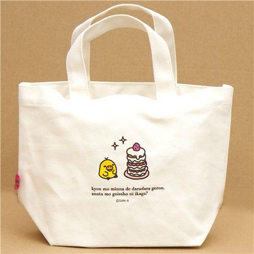 cute canvas linen rilakkuma pancakes handbag purses