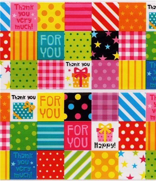 368925b00e39 nastro adesivo decorativo regali e quadretti colorati - modeS4u