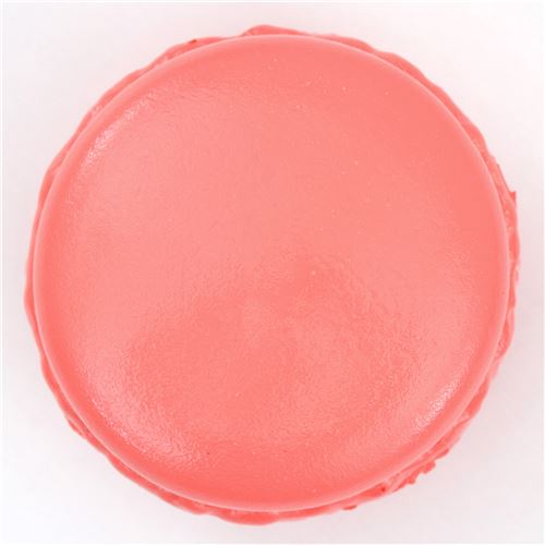 cute coral color macaron white center squishy kawaii food squishy