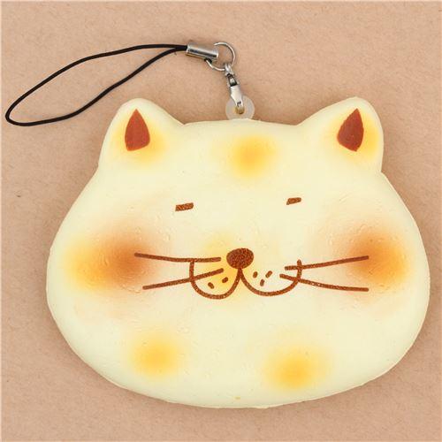 Diy Cracking Squishy : cute cream fat cat face senbei rice cracker cracking squishy - Food Squishy - Squishies - Kawaii ...