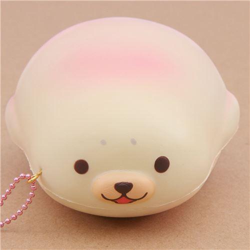 Squishy Little Animals : cute cream-pink mochi seal animal scented squishy by Puni Maru - Puni Maru Squishy - Squishies ...