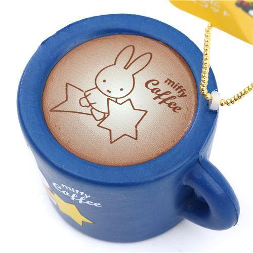 cute dark blue Miffy bunny rabbit coffee mug squishy for backpack - Food Squishy - Squishies ...