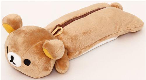 Cute Fluffy Rilakkuma Bear Pencil Case Pencil Cases
